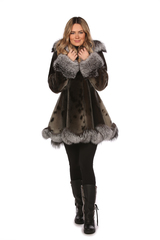 Manteau en  Fourrure - Loup Marin Naturel  - Megan