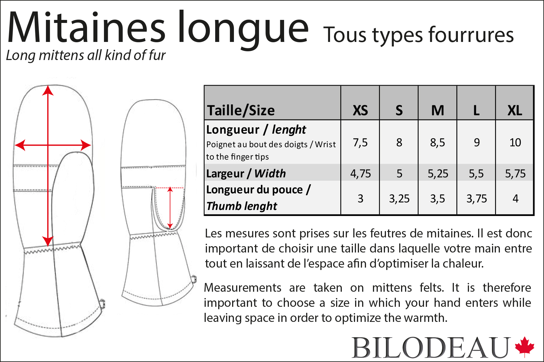 Mitaines longues